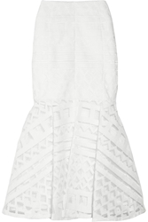 Kenzo Embroidered Mesh Midi Skirt