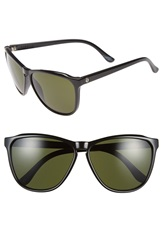 Electric Eyewear 'Encelia' 61Mm Retro Sunglasses Gloss Black Grey