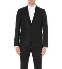 Joseph Davide Slim Fit Wool Flannel Blazer Black