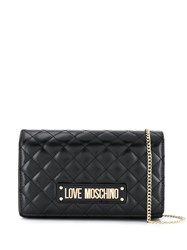 Love Moschino Logo Quilted Bag Black