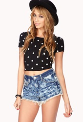 Forever 21 Grunge Bleached Denim Cutoffs Medium Denim