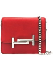 Tod's Double T Shoulder Bag Red
