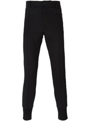 Dolce And Gabbana Gathered Ankle Trousers Black