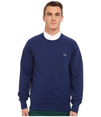 Fred Perry Loopback Crew Sweater Graphite Blue Men's Sweater