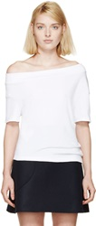 Jacquemus White Off The Shoulder T Shirt