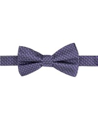 Ryan Seacrest Distinction Men's Beverly Neat Pre Tied Bow Tie Only At Macy's Purple