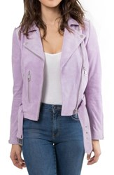 Bagatelle. Nyc Suede Jacket Lilac