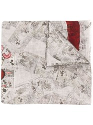 Faliero Sarti Minnie And Mickey Scarf Grey