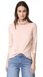Madewell The Song Stripe Wispy Turtleneck Tinted Blush