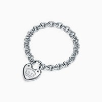 Tiffany And Co. Return To Tiffanytm Love Lock Bracelet In Sterling Silver Medium.