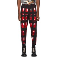 Alexander Mcqueen Black And Red Check Lounge Pants