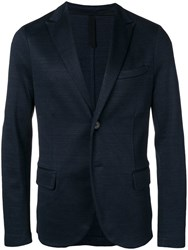 Harris Wharf London Classic Knit Blazer Blue