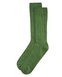 Bloomingdale's The Men's Store At Wide Rib Cashmere Blend Socks Grass