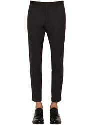 Dsquared Tidy Stretch Worsted Wool Pants Dark Grey