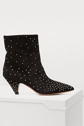 Valentino Studded Ankle Boots Black