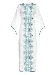 Talitha Embroidered Fluted Sleeve Dress
