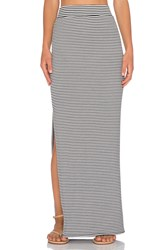 Atm Anthony Thomas Melillo Striped Side Slit Maxi Skirt Black