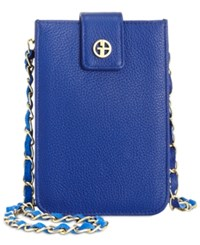 Giani Bernini Softy Leather Smartphone Crossbody Only At Macy's Cobalt Blue