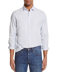 Bloomingdale's The Men's Store At Dotted Regular Fit Button Down Shirt Powder Blue