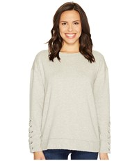 Joe's Jeans Miaya Lace Up Pullover Heather Grey Women's Clothing Gray