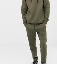 Another Influence Tall Quilted Panel Slim Fit Joggers Green