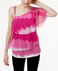 Inc International Concepts One Shoulder Top Only At Macy's Pink Field