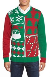 Men's Ugly Christmas Sweater 'Wrapping Paper' Holiday V Neck Sweater