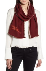 Longchamp Cashmere And Silk Scarf Burnt Red
