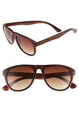 Topman Stripe Aviator Sunglasses Brown