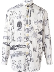 Jean Paul Gaultier Vintage 'First Aid' Printed Shirt White