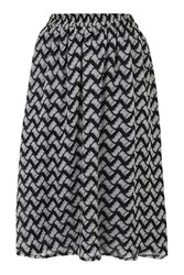 Quartered Sketch Print Skirt By Goldie Multi