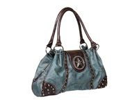 Mandf Western Texas Star Shoulder Bag Blue Shoulder Handbags
