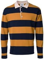 Kent And Curwen Striped Polo Shirt Brown
