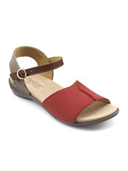 Hotter Dazzle Sophisticated Sandal Red