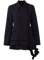 Comme Des Garcons Layered Fitted Jacket Blue