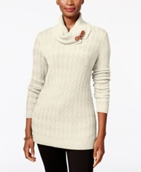 Charter Club Turtleneck Sweater Only At Macy's Vintage Cream