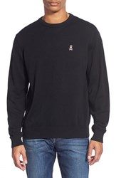 Men's Psycho Bunny Pima Cotton Crewneck Sweater Black