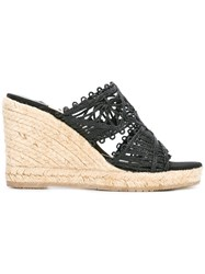 Paloma Barcelo Wedge Sandals Black