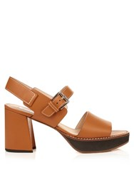 Max Mara Peblo Sandals Tan