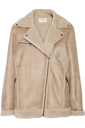 Current Elliott The Sherpa Faux Shearling Jacket Nude