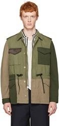3.1 Phillip Lim Green Patchwork Field Jacket