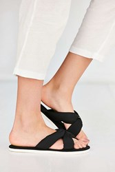 Urban Outfitters Puffy Knotted Slide Black