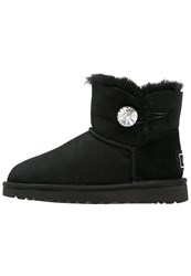 Ugg Mini Bailey Button Bling Winter Boots Black