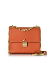 Michael Kors Mercer Large Pebble Leather Messenger Bag Orange