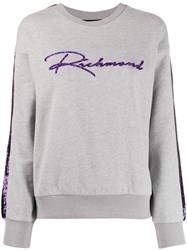 John Richmond Sequinned Logo Sweatshirt 60