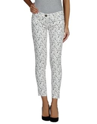 Elisabetta Franchi Gold Casual Pants White
