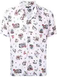 Guild Prime Tattoo Print Shirt Pink And Purple