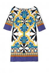 Philosophy Di Alberta Ferretti Tile Print Tunic Dress By Philosophy Di Alberta Ferretti