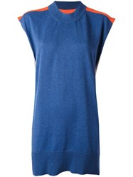 Maison Martin Margiela Mm6 Knitted Tank Dress Blue