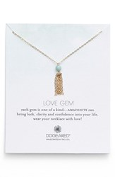 Women's Dogeared 'Love Gem' Tassel Chain Pendant Necklace